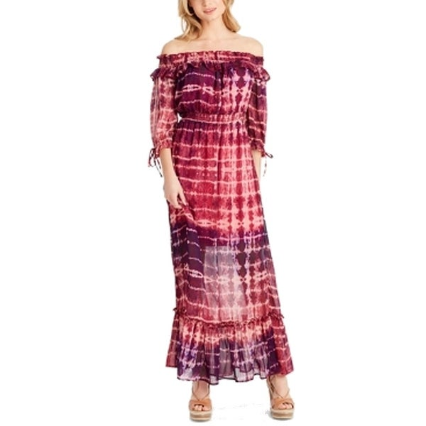 Jessica Simpson Women's Size Small S Tie Dyed Sheer Maxi Dress