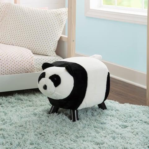 Pinkley Panda Bear Ottoman Stool