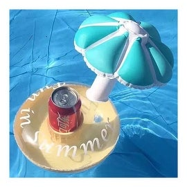 Thick PVC Inflatable Cup Mat Holder Red Blue Umbrella Coke Tray blue