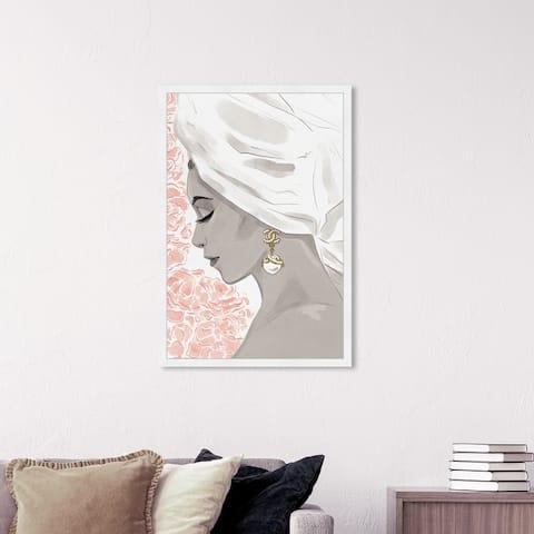 Oliver Gal 'Bath Bomb Beauty III' Fashion and Glam Framed Wall Art Prints Portraits - Gray, Pink
