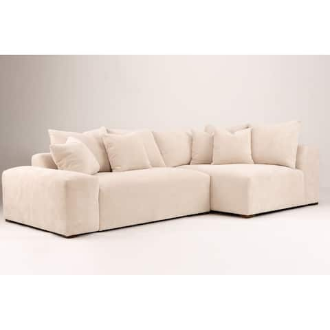 California 110-inch Pillow Back Sectional Sofa with Right Arm Chaise
