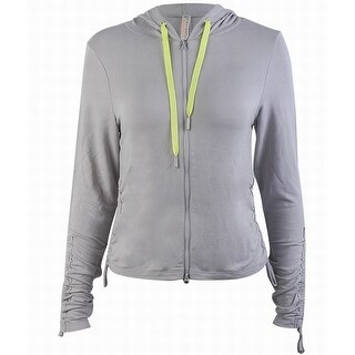 Free People NEW Gray Women's Size Large L Contrast Full Zip Sweater