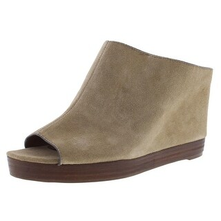 Franco Sarto Womens Mariam Suede Open Toe Mules - 10 medium (b,m)