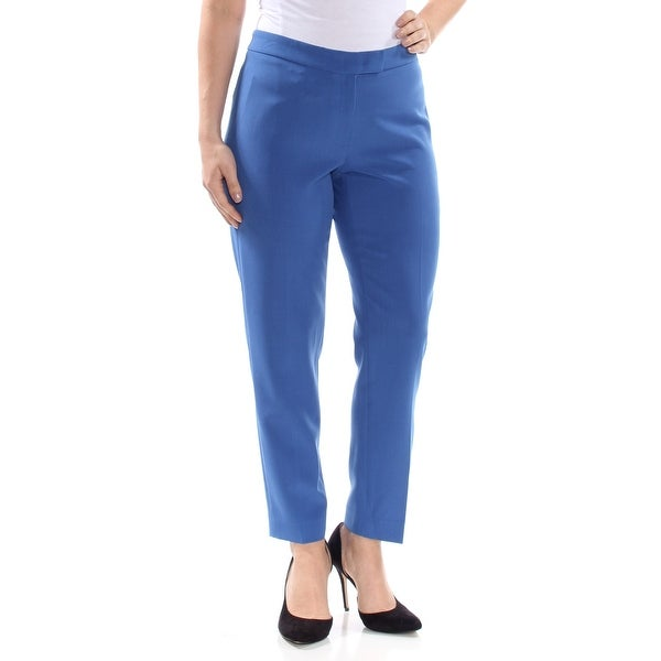 65f1fd3637a06 Shop ANNE KLEIN Womens Blue Darted Hidden Closure Straight leg Wear To Work  Pants Size: 8 - Free Shipping On Orders Over $45 - Overstock - 28352516