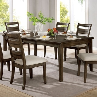 Link to Furniture of America Norm Transitional Walnut 78-inch Dining Table Similar Items in Dining Room & Bar Furniture