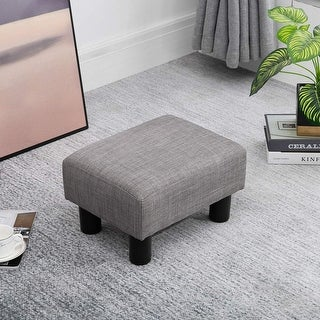 Link to Copper Grove Chaparro Modern Linen Footrest Ottoman Similar Items in Storage Cubes