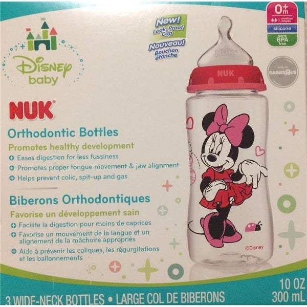 575ad8206cd Shop Arnold Mast 10 oz NUK Disney Minnie Mouse Orthodontic Bottles - Pac - Free  Shipping On Orders Over  45 - Overstock - 24286027