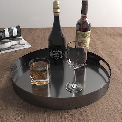 KOHROS Modern Round Decorative Iron Tray