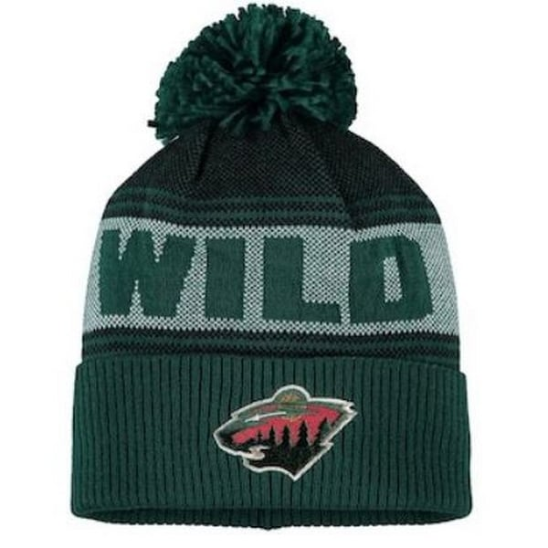 98aba4a04b0 Shop Adidas Men s NHL Minnesota Wild Stocking Knit Hat Beanie Winter Green  11FMZVWILD - Free Shipping On Orders Over  45 - Overstock - 26051682