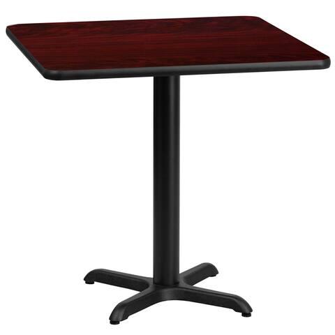 "Dyersburg 30"" Square Mahogany Laminate Table Top w/30"" High X-Base"