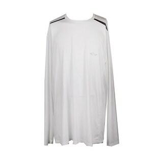 Greg Norman Big & Tall White Long-Sleeve Tee XLT