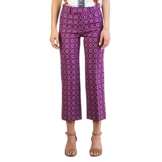 Miu Miu Women's Virgin Wool Polyester Blend Jacquard Pants Purple - 38 https://ak1.ostkcdn.com/images/products/is/images/direct/e9cd031bd30963c53e27d7a91fcd58702fe380e4/Miu-Miu-Women%27s-Virgin-Wool-Polyester-Blend-Jacquard-Pants-Purple.jpg?impolicy=medium