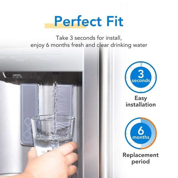 Fits GE Appliance DSHF6VGBCCBB Refrigerators Aqua Fresh Water Filter