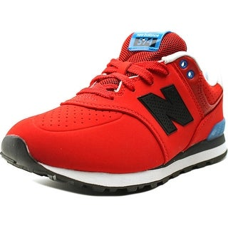 New Balance KL574 Youth  Round Toe Suede Red Sneakers