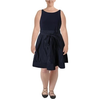 Lauren Ralph Lauren Womens Petites Wrap Dress Pleated Sleeveless - 16p