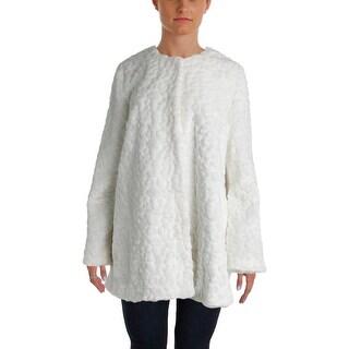 Sam Edelman Womens Charles Jacket Faux Fur Outerwear - l