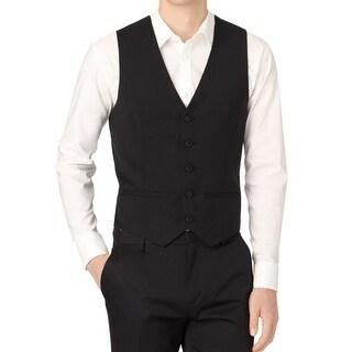 Calvin Klein NEW Deep Black Men's Size Medium M Five Button Vest
