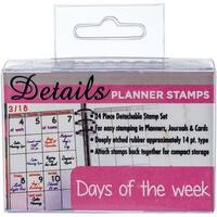 Days Of The Week - Contact Crafts Planner Stamps 24/Pkg