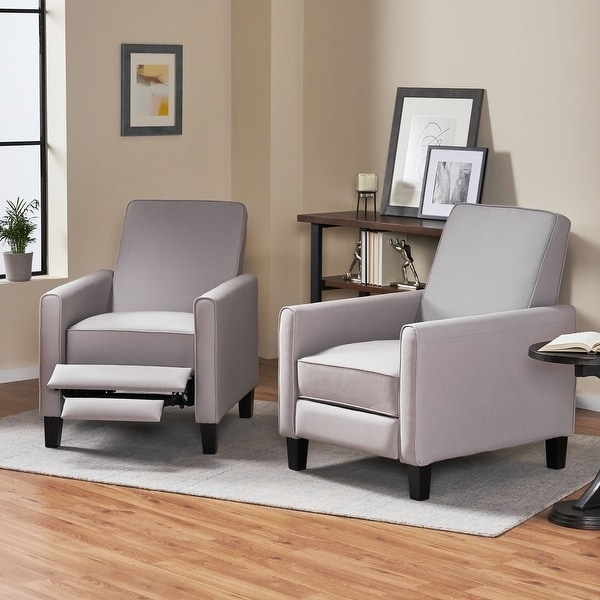 Darvis Contemporary Fabric Recliner (Set of 2) by Christopher Knight Home. Opens flyout.