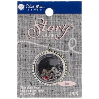 Blue Moon Story Lockets Metal Charm Assortment 5/Pkg-Love