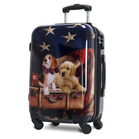Freedom Dogs 20-Inch Hardside Lightweight Spinner Carry-On Suitcase