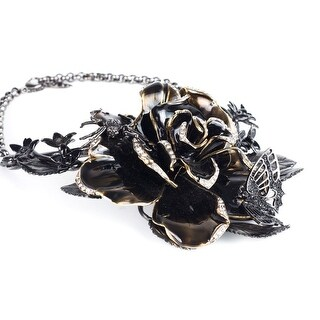 Cavalli Women Swarovski Embellished Rose Collar Necklace