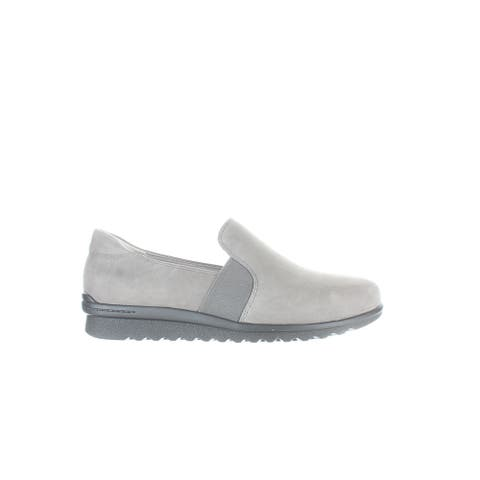 Aravon Womens Josie Grey Nubuck Casual Flats Size 7