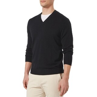 Bloomingdales Mens 2-Ply Cashmere V-Neck Sweater Black