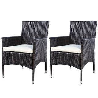 2PC Chairs Outdoor Patio Rattan Wicker Dining Arm Seat With Cushions|https://ak1.ostkcdn.com/images/products/is/images/direct/e9d54873532c5699aaa6ab82dffd997da9f8f6bd/2PC-Chairs-Outdoor-Patio-Rattan-Wicker-Dining-Arm-Seat-With-Cushions.jpg?impolicy=medium