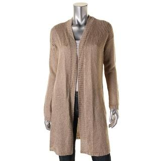 Lauren Ralph Lauren Womens Cardigan Sweater Linen Open Front