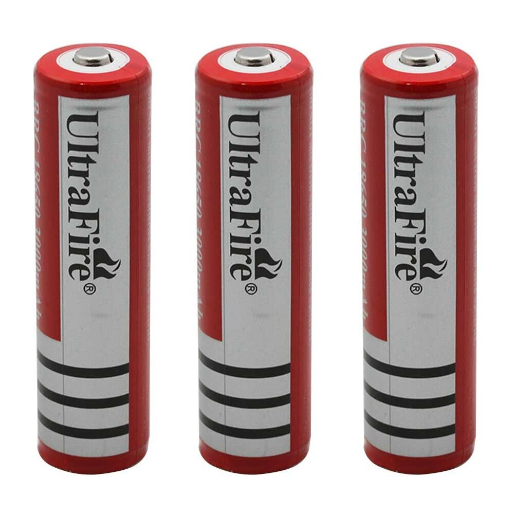 18650 CHARGER 1 ULTRAFIRE 18650 3000 mAH BATTERY RED w//PCB