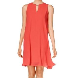 Vince Camuto NEW Orange Coral Women's Size 2 Keyhole Shift Dress