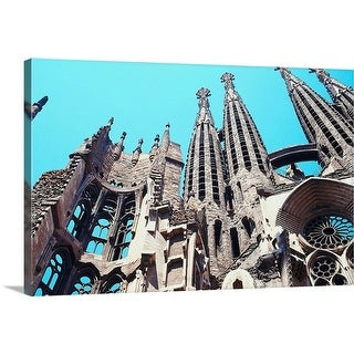 """Sagrada Familia Cathedral, Barcelona"" Canvas Wall Art"