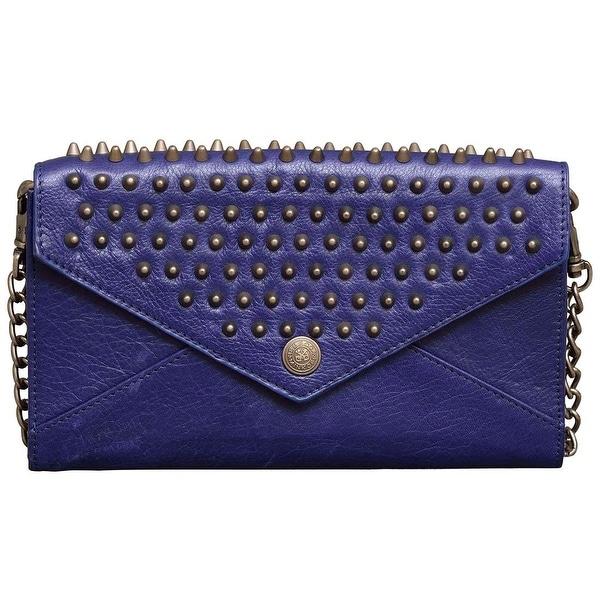 Shop Rebecca Minkoff Royal Blue Studded Leather Crossbody Handbag - Free  Shipping Today - Overstock.com - 22703361 5b88e78ec8