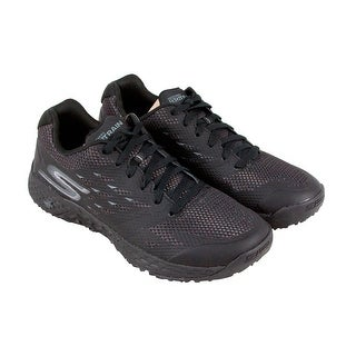 Skechers Endurance Mens Black Synthetic Athletic Lace Up Running Shoes