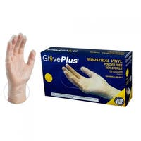 GLOVEPLUS IVPF Clear Vinyl Industrial Latex Free Disposable Gloves (Box  of 100) by AMMEX