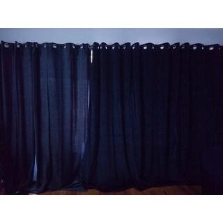 Exclusive Fabrics Midnight Blue Grommet Velvet Blackout Curtain Panel