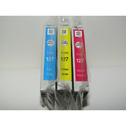 Epson 127 Extra High-Capacity Color Ink Cartridge Multi-Pack in Sealed Bags
