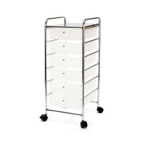 Seville Classics 6 - Drawer Storage Bin Organizer Cart