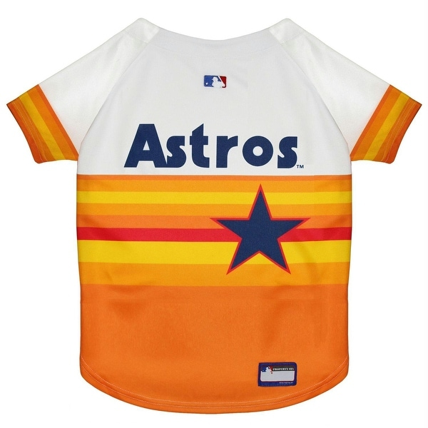 f26e504f578 Shop Houston Astros Vintage Rainbow Pet Jersey - Free Shipping On Orders  Over  45 - Overstock.com - 27199584