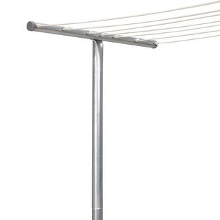 Household Essentials T-2050 Galvanized Steel Clothesline T-Post Assembly, 90""
