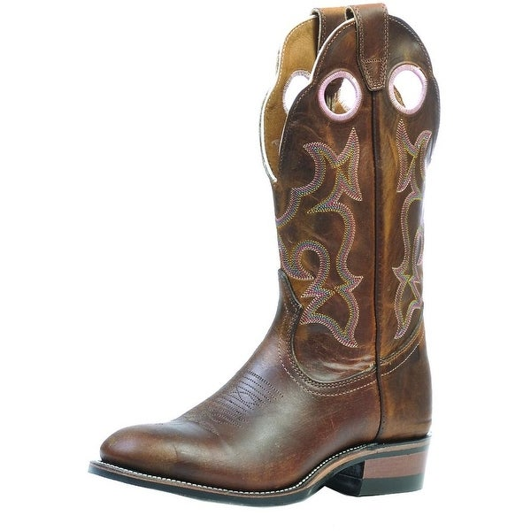 Boulet Western Boots Womens Cowboy Leather Laid Back Tan Spice 0