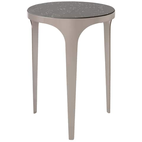 Uttermost Agra Brushed Nickel Modern Side Table