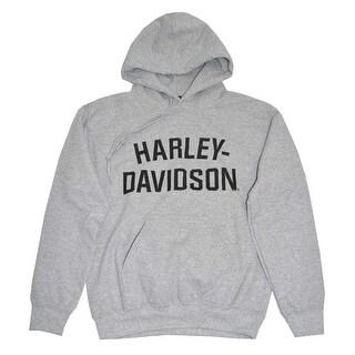 Harley-Davidson Men's Pullover Hooded Sweatshirt,  H-D Hoodie Gray 30296641