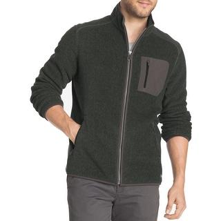 G.H. Bass & Co. NEW Green Mens Size XL Arctic Fleece Full Zip Sweater