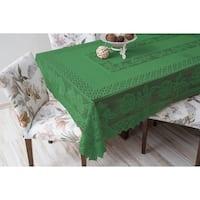 Tablecloth Grega Design Brazilian Lace 59x86 Inches Green Color 100 Percent Polyester