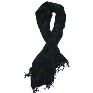 Nicoshine Adult Unisex Cashmere Scarf Green Plaid One Size - Green Plaid - One Size