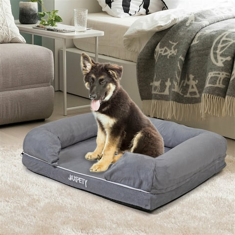 Grey 30 X 37 inch pet dog cat bed puppy kitten cushion quilted soft