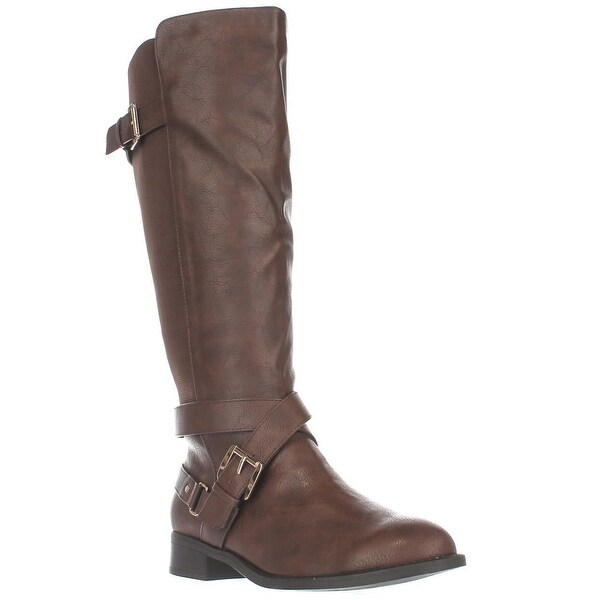 TS35 Vada Stretch Knee High Harness Boots, Cognac