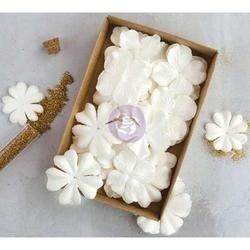 "Purity W/Glitter 1.5"" - 2.25"" 36/Pkg - Prima Marketing Boxed Flowers"
